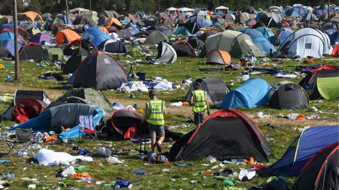 Should festival-goers pay tent tax as waste ends up in landfill
